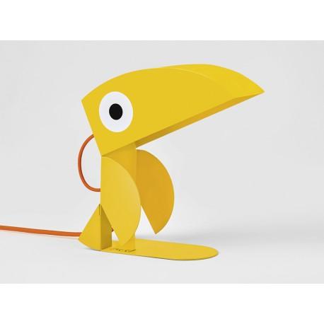 Lampe Toucan-tole-jaune-face
