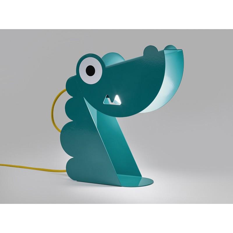Dinosaure Turquoise Lampe Design Carmin Bleu 54ALjR