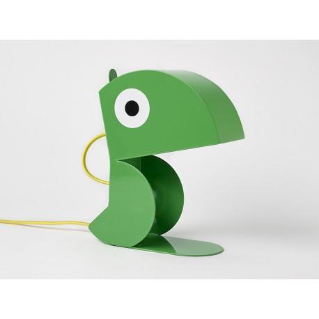 Lampe Perroquet Vert-tole-face