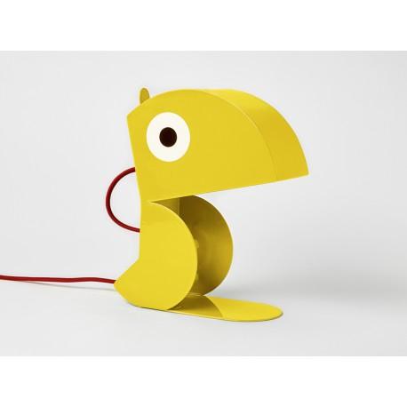 Lampe Perroquet Jaune-tole-face