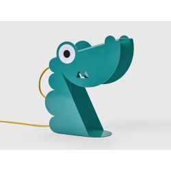 Lampe Dinosaure turquoise-tole-face