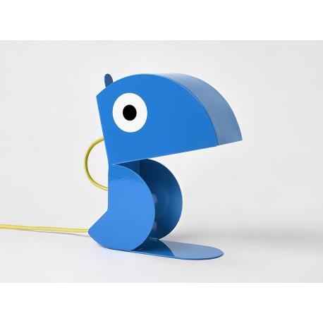 Lampe Perroquet Bleu-tole-face