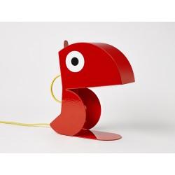 Lampe Perroquet Rouge-tole-face